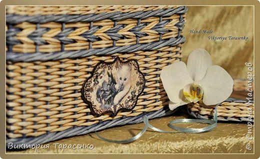 Поделка изделие Декупаж Плетение Посвящается нашему Тимохе Одесситу Трубочки бумажные фото 5