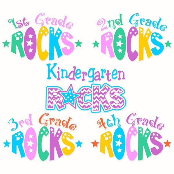 Back to School Kindergarten Rocks 1st 2nd 3rd and 4th Grade Pack Cuttable Design Cut File. Vector, Clipart, Digital Scrapbooking Download, Available in JPEG, PDF, EPS, DXF and SVG. Works with Cricut, Design Space, Sure Cuts A Lot, Make the Cut!, Inkscape, CorelDraw, Adobe Illustrator, Silhouette Cameo, Brother ScanNCut and other compatible software.