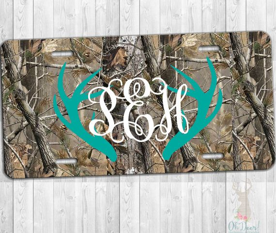Personalized License Plate camo license plate by Ohdeergifts