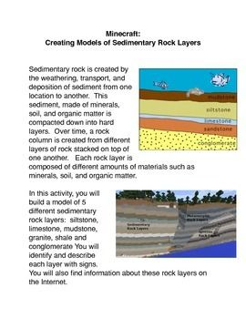 Creating a model of sedimentary rock layers is a common core activity