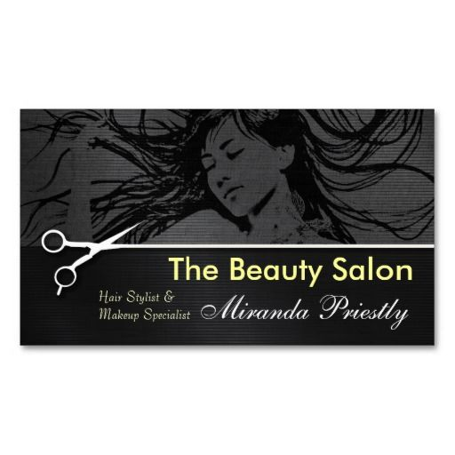 Best Hairsaloncard Images On Pinterest Business Cards - Hair salon business cards templates free
