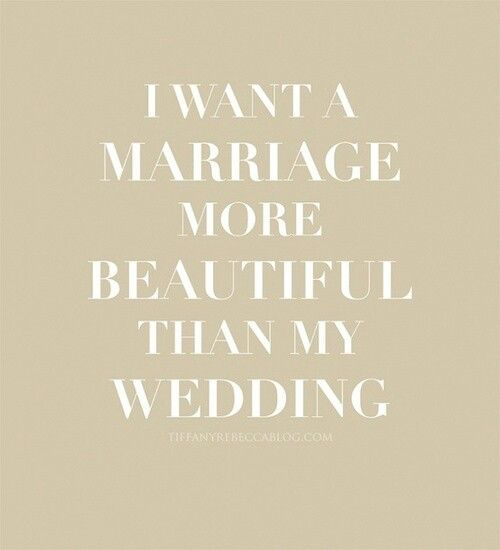 If only people realized that their marriage is more important than their wedding