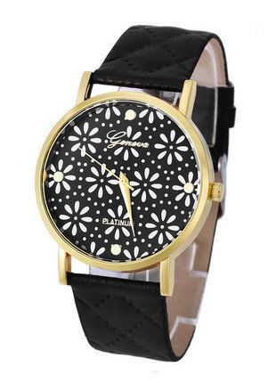Kup mój przedmiot na #vintedpl http://www.vinted.pl/akcesoria/bizuteria/16125667-piekny-zegarek-z-czarnym-pikowanym-paskiem