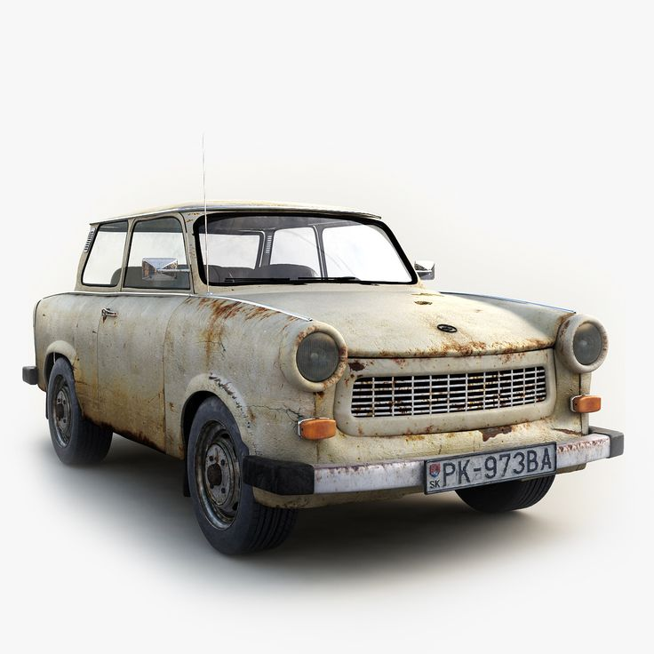 3D Old Classic Car Trabant - 3D Model | 3D-Modeling | Pinterest ...