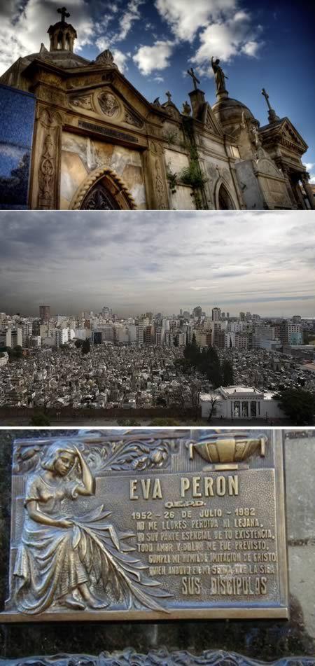 El cementerio Recoleta es un lugar famoso.