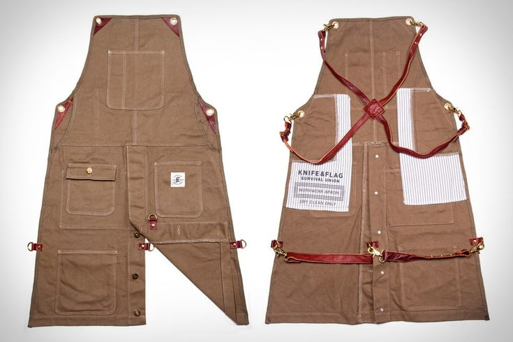 No matter where you work — whether it's in a shop, or in the kitchen — when the job gets messy, there are few better ways to protect yourself and your clothes than a sturdy apron. Knife & Flag Work...