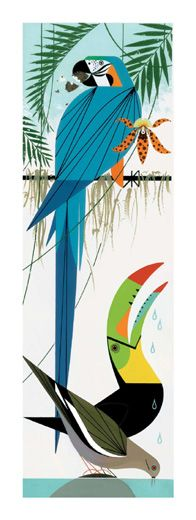 Paradise Pals by Charley Harper  My most favourite illustrator!! <3