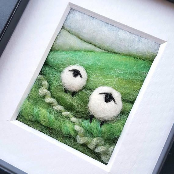 Check out this item in my Etsy shop https://www.etsy.com/uk/listing/511097930/sheep-on-a-hillside-miniature-felted-and