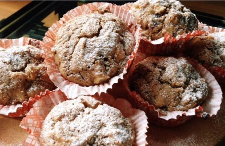 Havermout muffins met appel