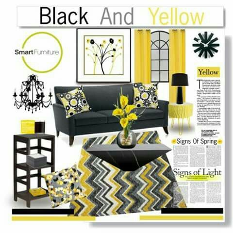 Bu0026y. Yellow Living RoomsYellow BlackLiving Room ... Part 88