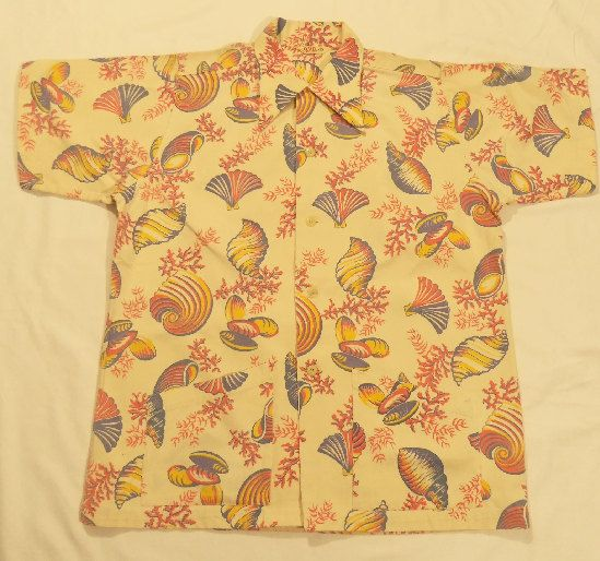 Rare 1940's Seashell Vintage Hawaiian Shirt by BVD Brand/Size Large by ChicJacksVintage on Etsy