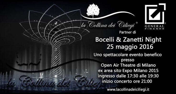 Bocelli & Zanetti Night 2016 a sostegno della Fondazione PUPI e della Andrea Bocelli Foundation