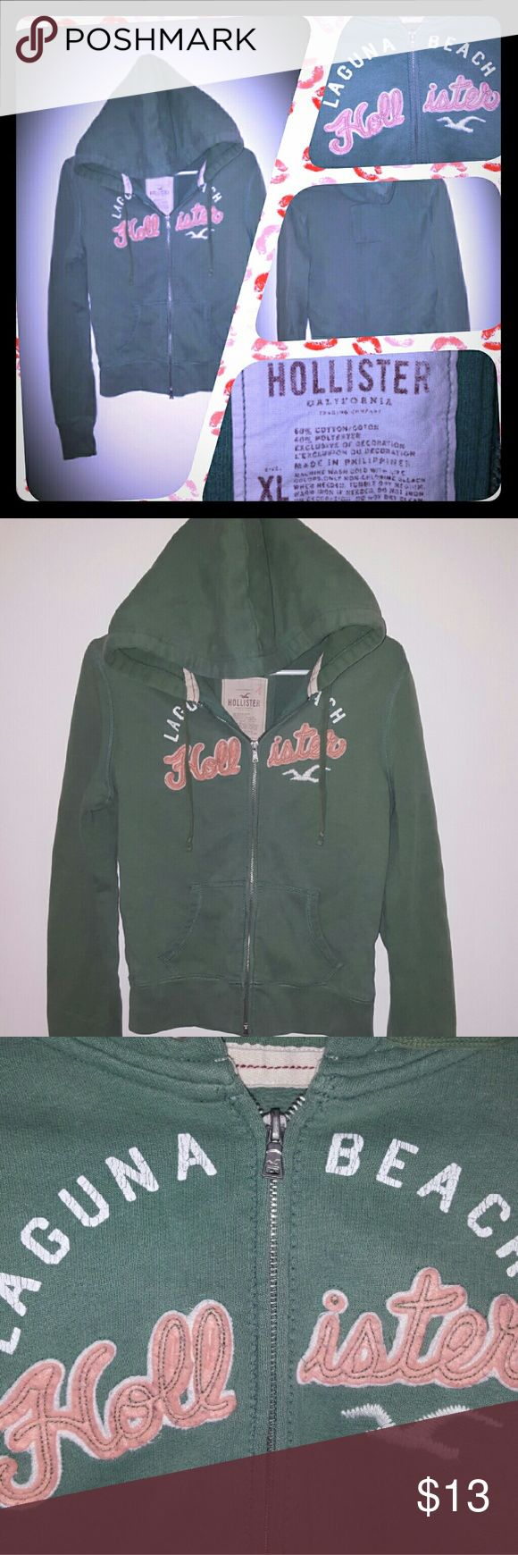 Hollister jacket Jouniors XL green Hollister jacket. As seen. Very nice.all offers welcomed. Hollister Jackets & Coats