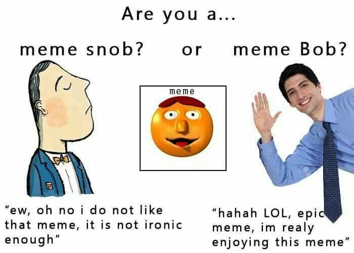 me snob: i have very specific taste in memeland