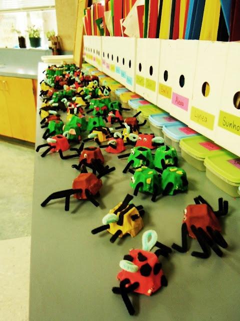 egg-carton bugs.. taking over our countertops..