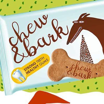 Chew&Bark zdravá pochúťka pre psov v hravom obalovom dizajne