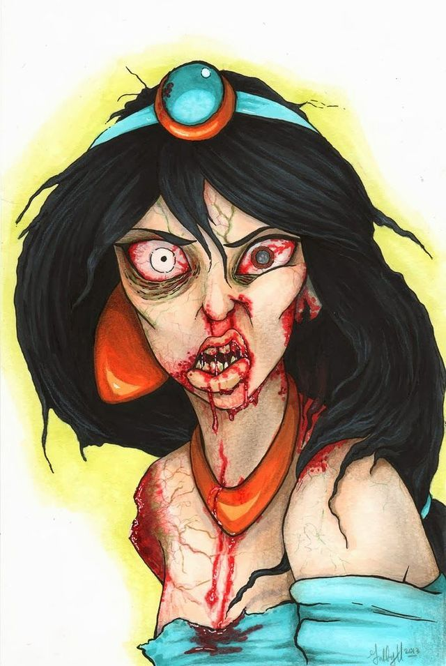 Zombie Disney Princesses Are Sacrificing Beauty for Brains—Tasty, Tasty Brains-Jasmine