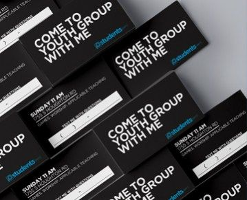 The size of the average business card is the perfect size for quick invite cards for Youth Ministry events, services and more! This download contains the photoshop file to customize this great 3.5&…