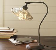 Whitney Fluted Glass Task Table Lamp  (perfect library lamp)