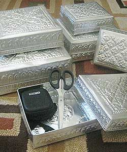 Aluminum Handicrafts - Square flat box set of 6