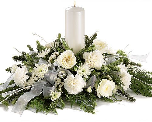 Christmas Flower Arrangements  #silver #white #christmas