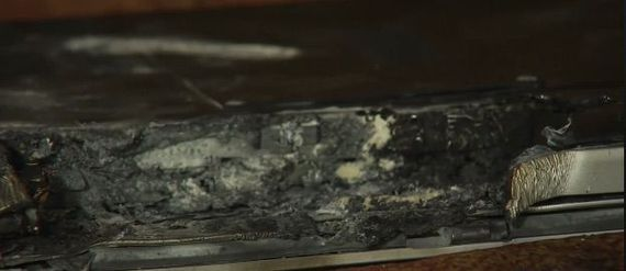 Dell: Crazy exploding laptop wasn't our fault     - CNET Technically Incorrect offers a slightly twisted take on the tech thats taken over our lives.  Enlarge Image  There wasnt much left of the laptop.                                                      NBC4 screenshot by Chris Matyszczyk/CNET                                                  It was quite the video.  A Dell Inspiron laptop was charging on a sofa when it burst into flames. Its owner 18-year-old Devon Johnson of Thousand Oaks…