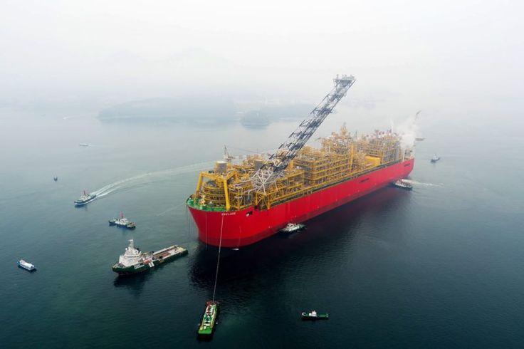 Shells gigantiska Prelude FLNG seglar för Australien – gCaptain