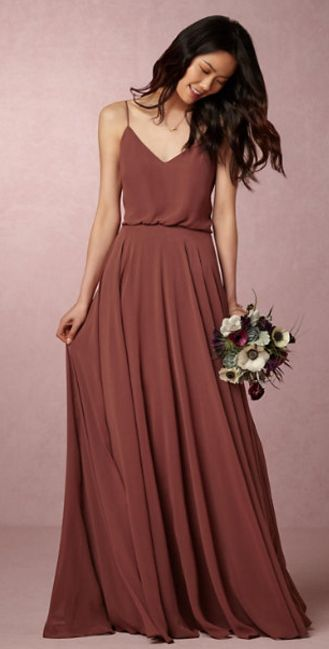 Rust bridesmaid dress #bridesmaiddress