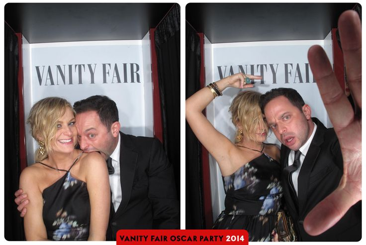 Amy Poehler and Nick Kroll - 2014 Vanity Fair Oscar Party photo booth - Love these pictures!