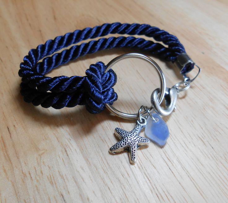 Sea Glass Jewelry - Nautical Ring Bracelet - TRAVELLER. $20.00, via Etsy.