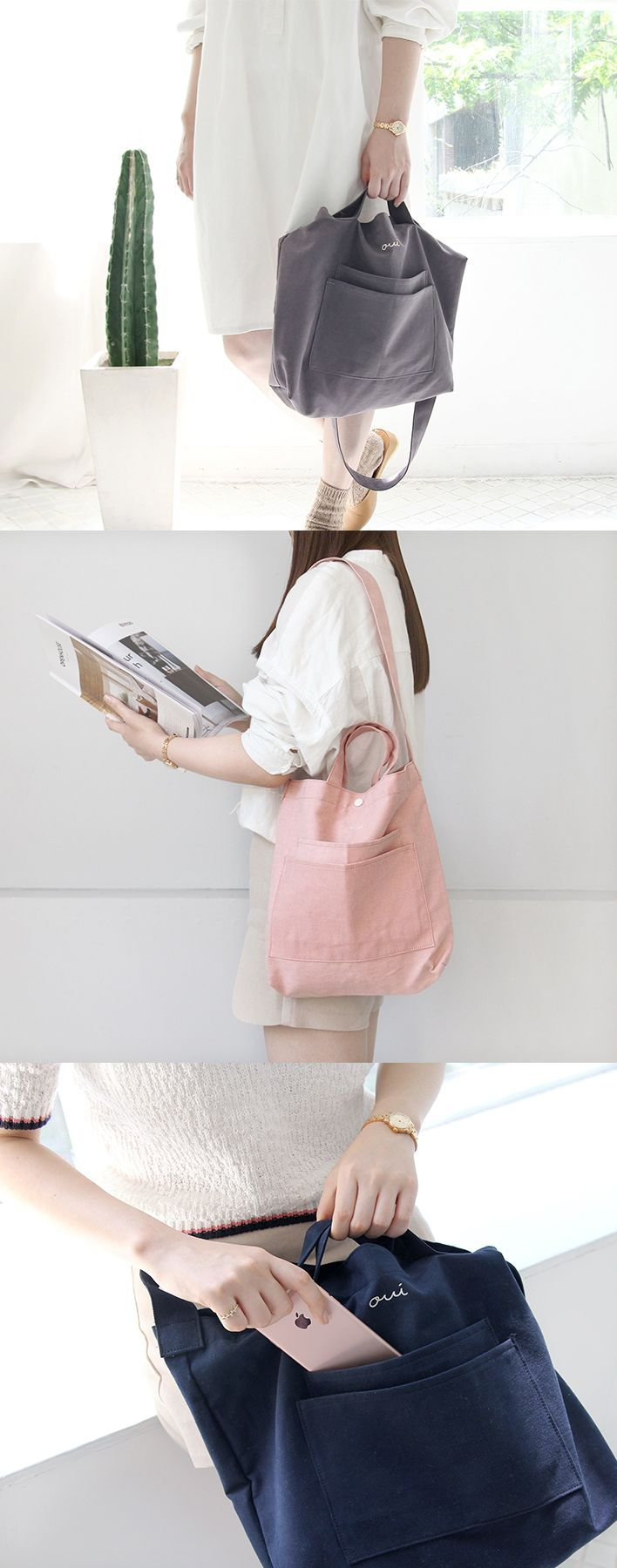 The modern design of the bag, and the convenience of both shoulder strap and a handle will make you want to carry this bag with you all the time!