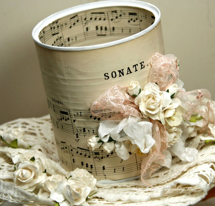 DIY- Shabby Recycled Coffee Can ! I Have to find a Can! Love This!
