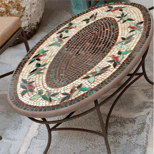 Iron & Mosaic Coffee Table traditional outdoor tables
