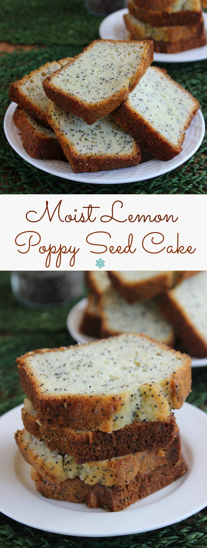 Moist Lemon Poppy Seed Cake has a little zing of sweet lemon freshness. So easy and you only need one bowl. photo