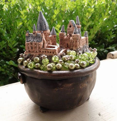 Hogwarts Castle in a Bubbling Cauldron Pincushion