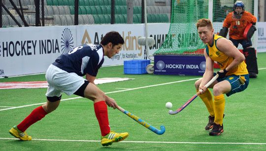 The Burras, the Australian men's U21 hockey team, marched on to the quarter-finals of the Hero Hockey Junior World Cup in New Delhi with a 2...