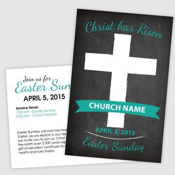 Chalkboard Easter Invitation | Postcard Invitation for Easter Sunday | Church Easter Event