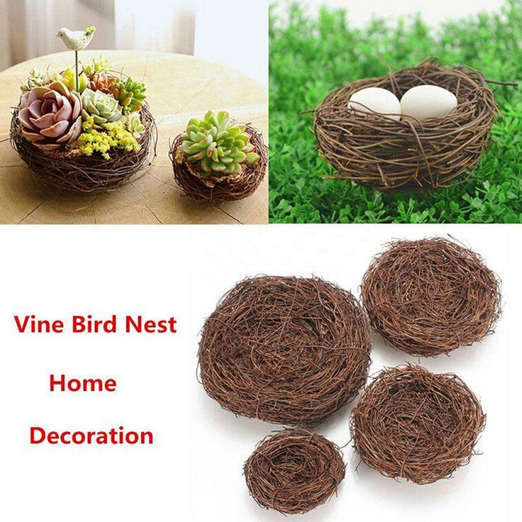 5 Size Creative Handmade Vine Brown Bird Nest House Home Nature Craft Holiday Decoration Bird Cage