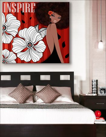 Inspire on Canvas Art Gallery Wrapped Canvas