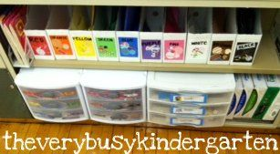 The Very Busy Kindergarten: Writing Center
