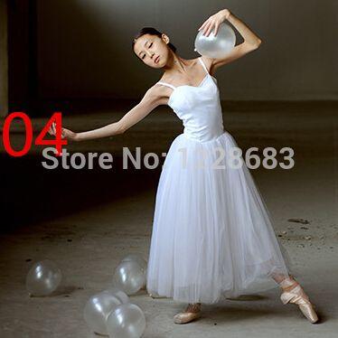 Classical Professional White Swan Lake Ballet Costume Romantic Ballet Tutu Ballet Dresses For Performance Adult Long Tutu