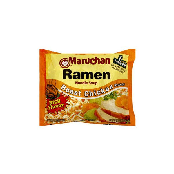 Maruchan Ramen Noodle Soup, Roast Chicken Flavor ❤ liked on Polyvore featuring food, food and drink and filler