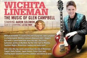 Wichita Lineman: The Music of Glen Campbell @ Mady Centre for the Performing Arts in Barrie, Ontario December 1st, 2013!
