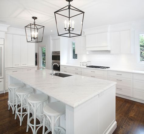 Hamptons kitchen with modern touches
