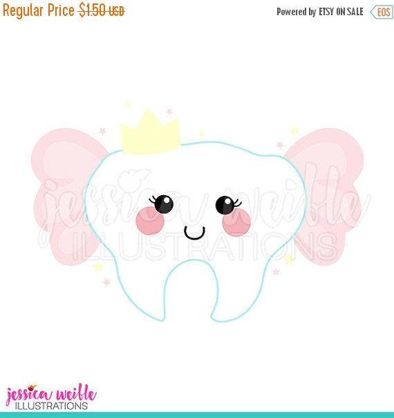 Gráfico Digital Linda hada de los dientes venta por JWIllustrations