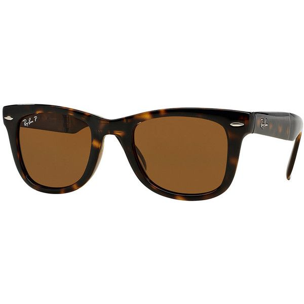 Ray-Ban Polarized Wayfarer Sunglasses ($205) ❤ liked on Polyvore featuring accessories, eyewear, sunglasses, polarised black, polarized sunglasses, wayfarer sunglasses, black wayfarer sunglasses, tortoise shell sunglasses and ray ban sunglasses