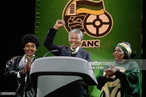 African National Congress Leader Nelson Mandela At Wembley
