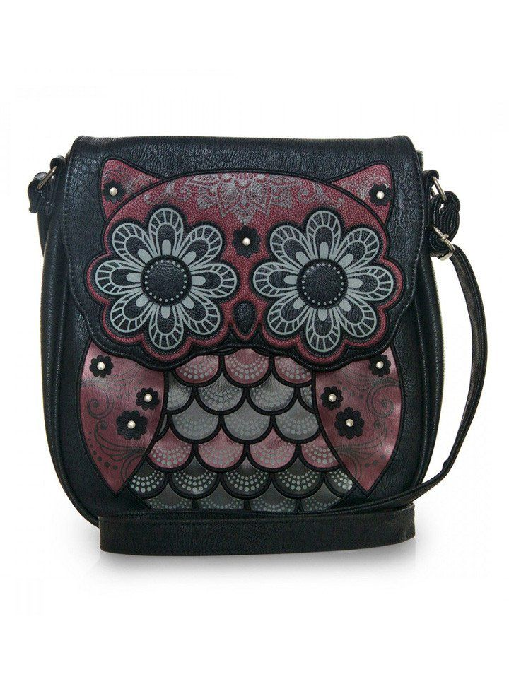 Looking for a cute owl purse? Check out this stylish Red & Grey Owl Crossbody Bag made by Loungefly! It's perfect for everyday wear.