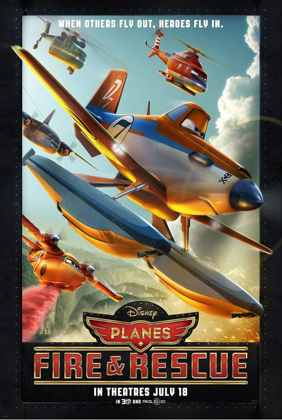 Disney Planes Fire and Rescue Movie Poster!