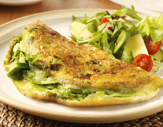 My staple breakfast tends to be omlette, made with a lot of veg - peppers, onions, ham, tomatoes, spinach, etc. It;s a delicious, filling, low-cal way to start your day!